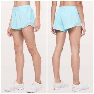 "Lululemon Hotty Hot Shorts 4"" Hydra Blue, 4 Tall"